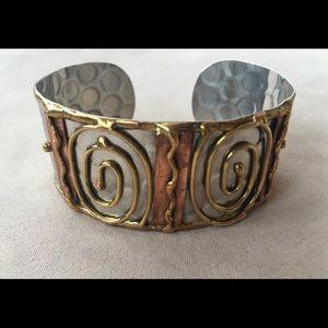 Jewelry - Multi metal cuff bracelet